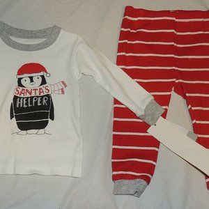 Other - Baby Santa Helper Pajamas 2pce Penguin 9 Month NWT